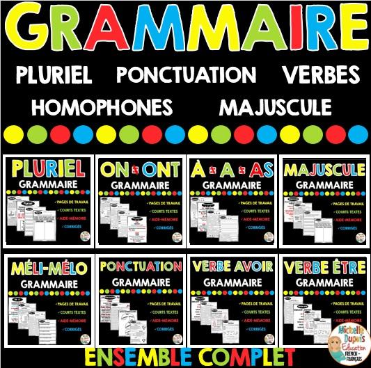 grammaire verbes pluriel homophones ponctuation pluriel