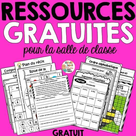 ressources gratuites littératie math salle de classe