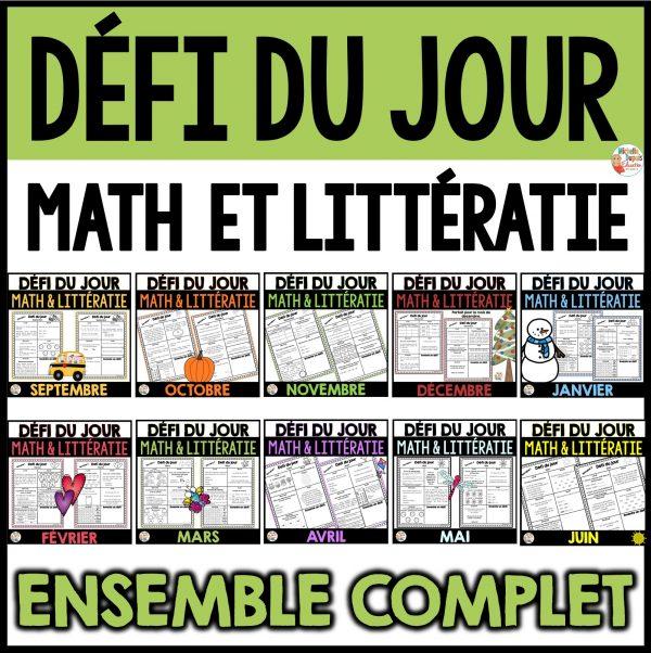 défi du jour math et littératie