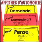 affiches d'autonomie - gestion de classe