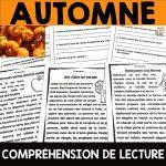 Compréhension de lecture automne rentrée scolaire