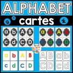 alphabet cartes éclaires majuscules minuscules