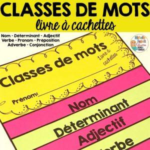 classes de mots nom verbes adjectif déterminant pronom
