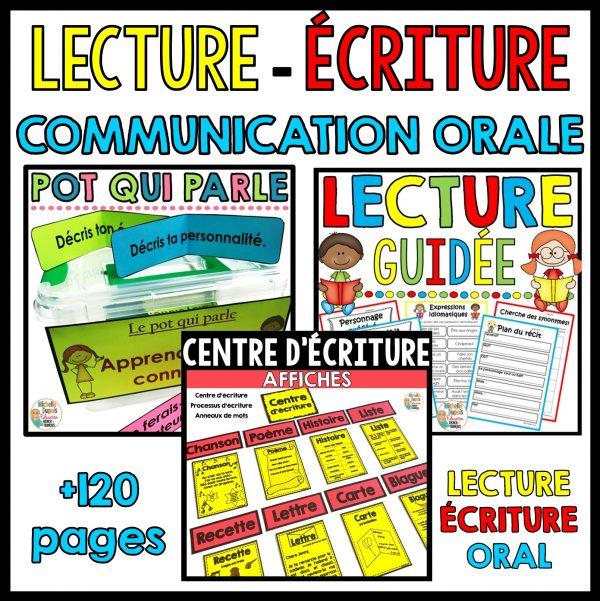 lecture écriture communication orale