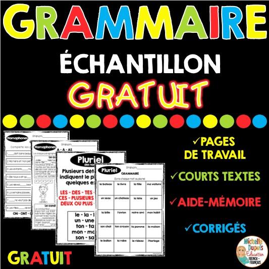 grammaire activités gratuites
