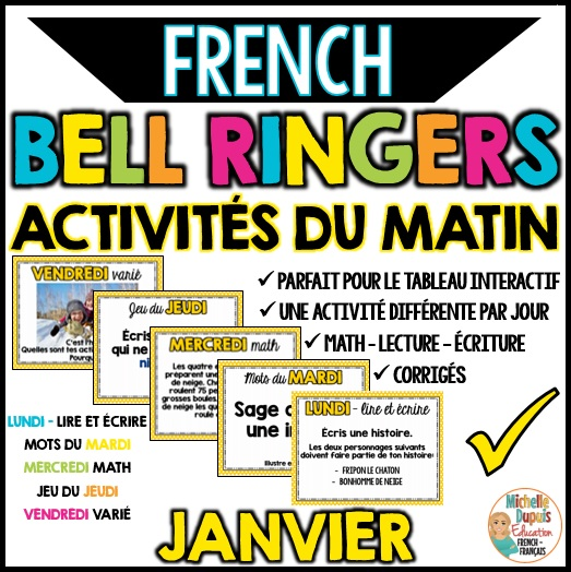 activités du matin janvier french bell ringers
