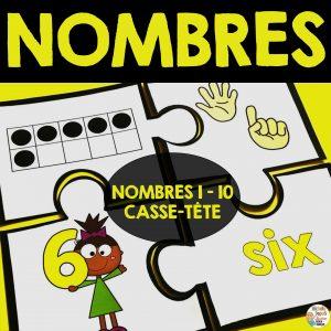 Activités pour apprendre les nombres