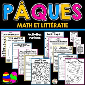 Activités de Pâques - math et littératie