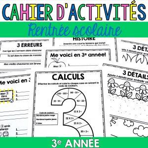 cahier d'activités 3e année